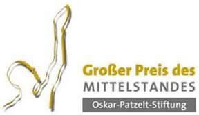 Großer Preis des Mittelstandes von der Oskar Patzelt Stiftung für den Aktuell Lohnsteuerhilfeverein e.V.