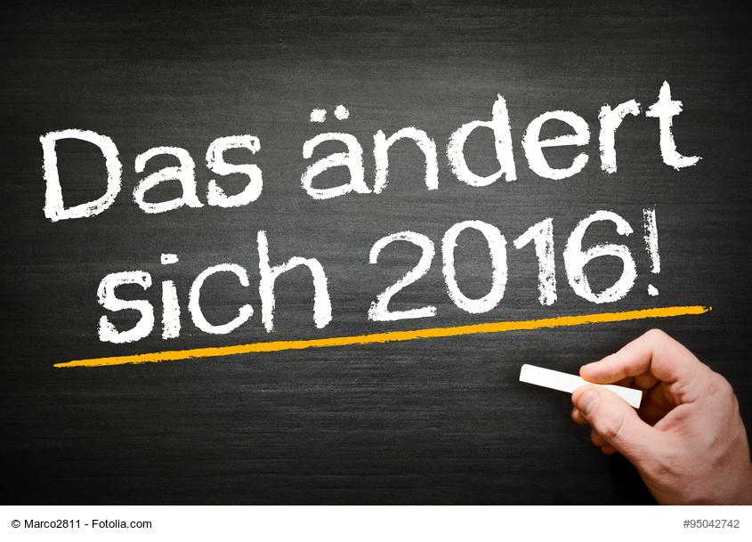 Steueränderungen 2016, viele Steuerpflichtige dürfen sich freuen!