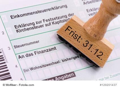 Abgabe der Steuererklärung 2013 bis zum 31.12.2017