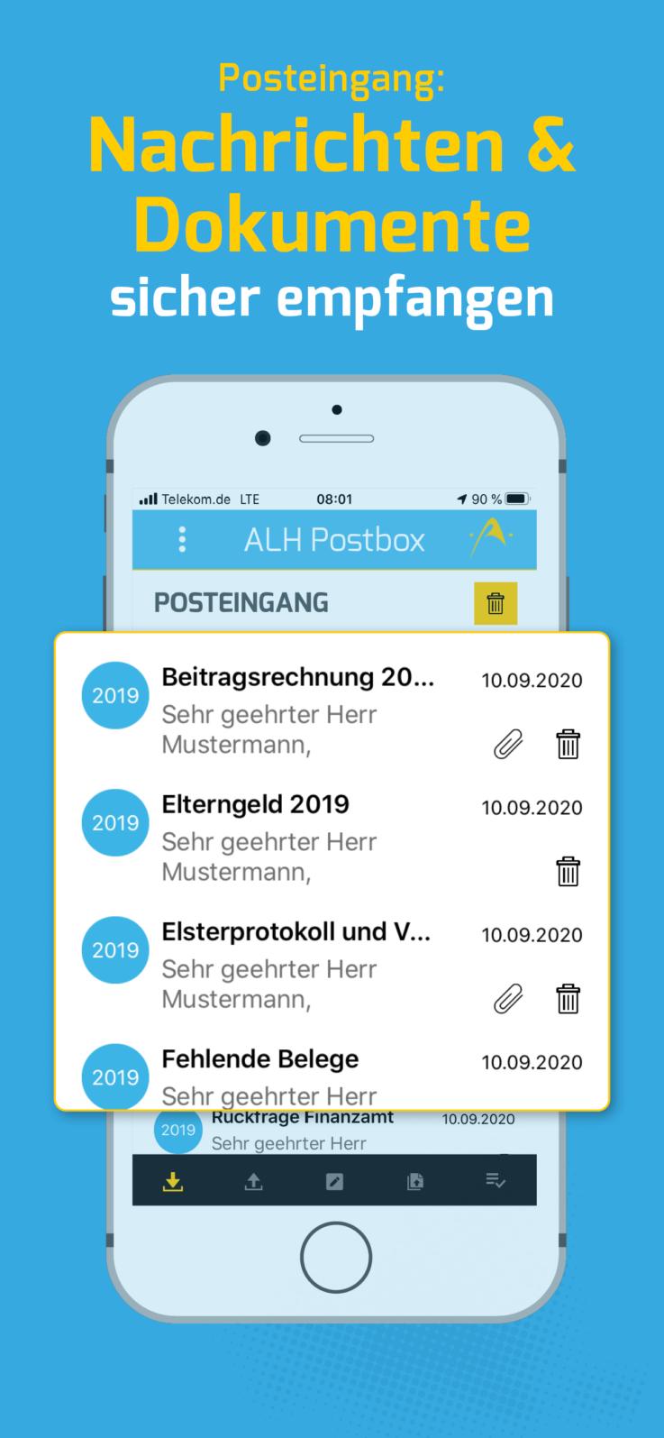 ALH Postbox App Posteingang Nachrichten & Dokumente sicher empfangen