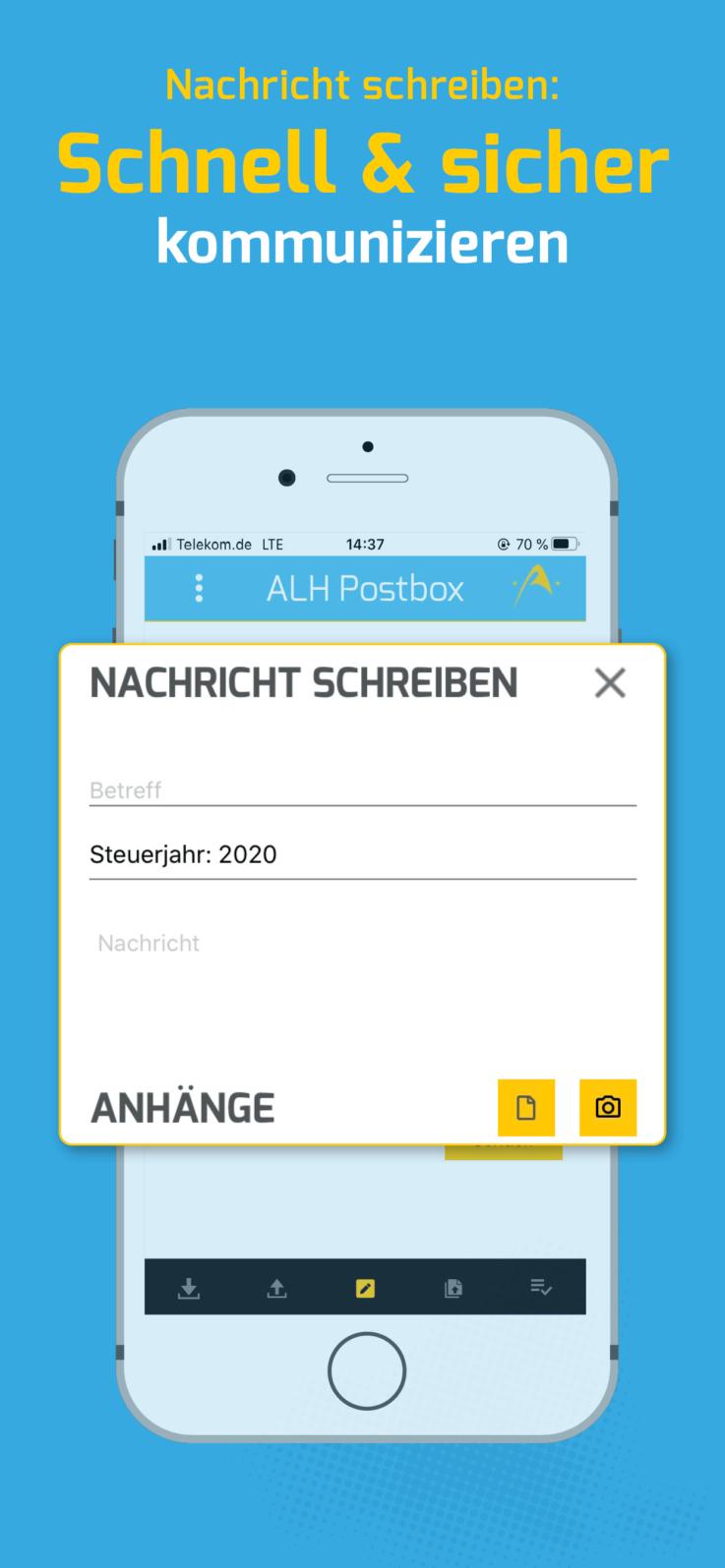 ALH Postbox App Nachricht schreiben schnell & sicher kommunizieren