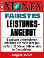 Fairstes Leistungsangebot - Testergebnis Steuerhilfeverein