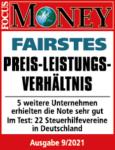 Fairstes Preis-Leistungs-Verhältnis - Testergebnis Steuerhilfeverein